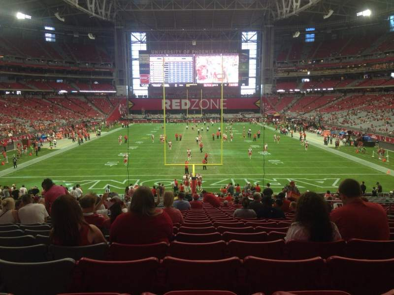 Seating view for University of Phoenix Stadium Section 115 Row 35 Seat 8