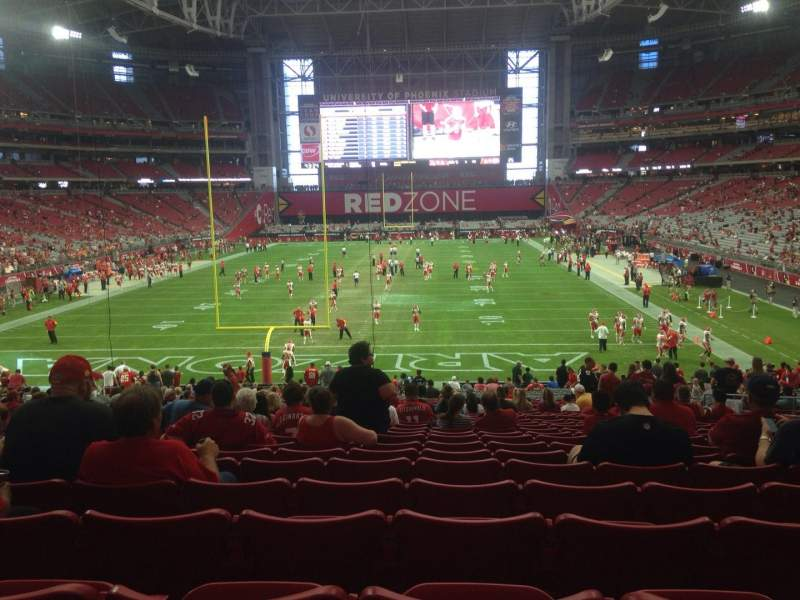 Seating view for University of Phoenix Stadium Section 118 Row 36 Seat 11