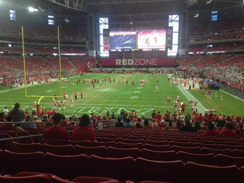 Seating view for University of Phoenix Stadium Section 117 Row 31 Seat 14
