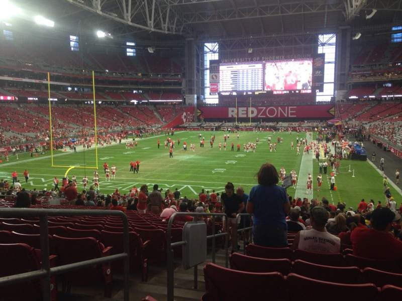 Seating view for University of Phoenix Stadium Section 116 Row 35 Seat 30