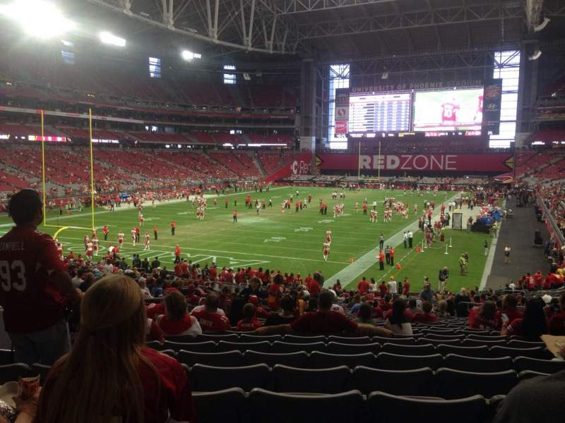 Seating view for University of Phoenix Stadium Section 116 Row 36 Seat 10