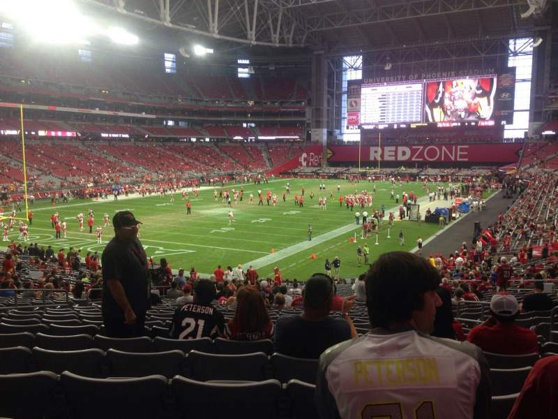 Seating view for University of Phoenix Stadium Section 115 Row 36 Seat 24