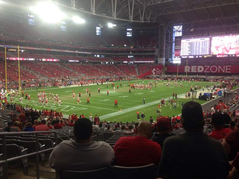 Seating view for University of Phoenix Stadium Section 115 Row 33 Seat 12