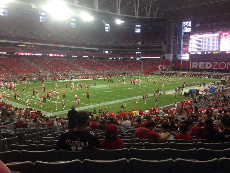 Seating view for University of Phoenix Stadium Section 114 Row 31 Seat 27