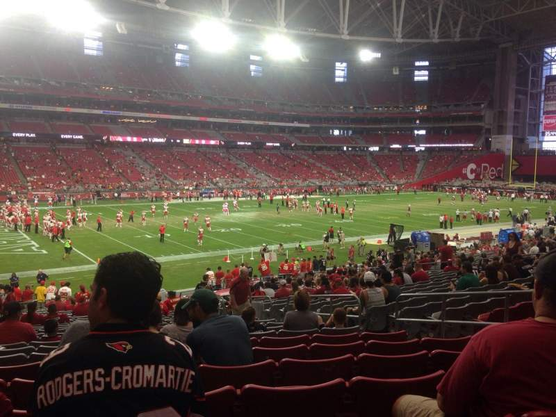 Seating view for University of Phoenix Stadium Section 113 Row 31 Seat 30