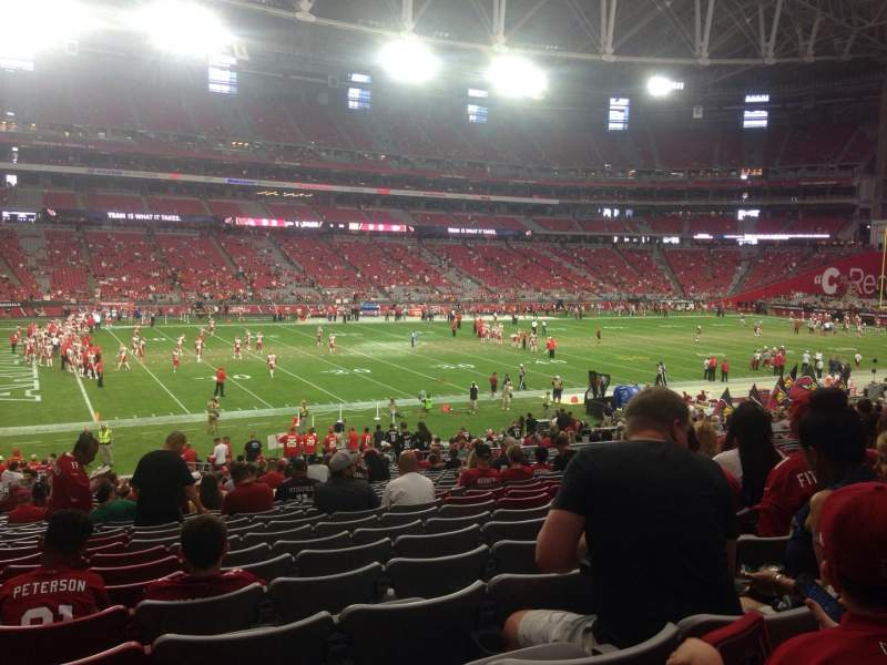 Seating view for University of Phoenix Stadium Section 113 Row 34 Seat 16