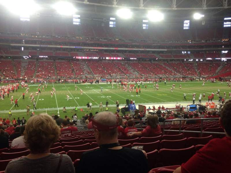 Seating view for University of Phoenix Stadium Section 112 Row 35 Seat 6