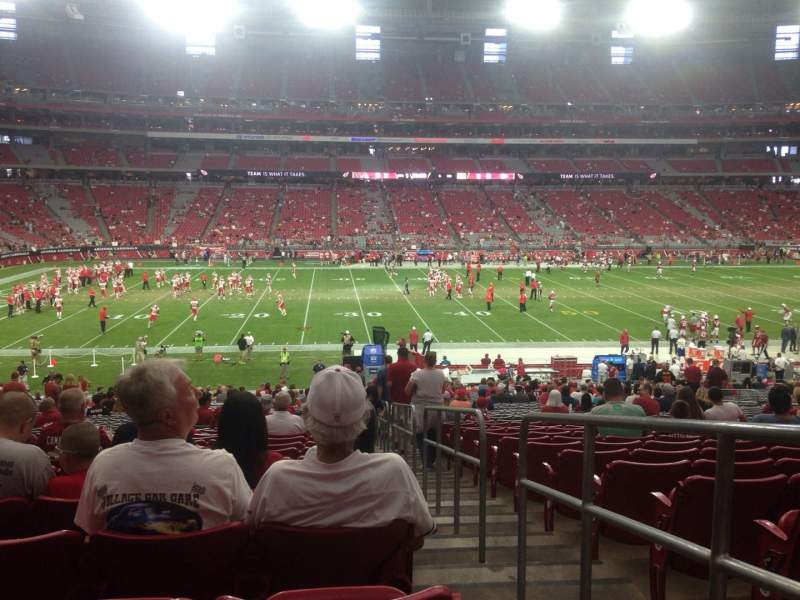 Seating view for University of Phoenix Stadium Section 111 Row 36 Seat 1