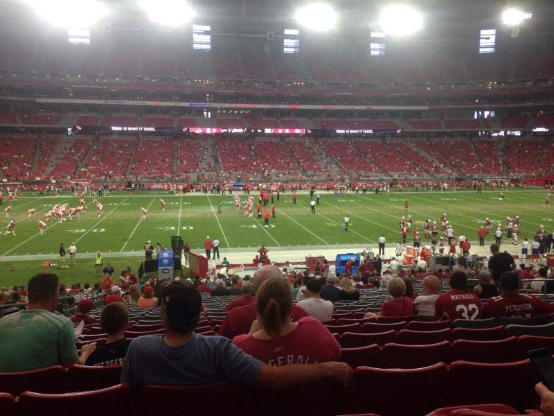 Seating view for University of Phoenix Stadium Section 110 Row 32 Seat 14