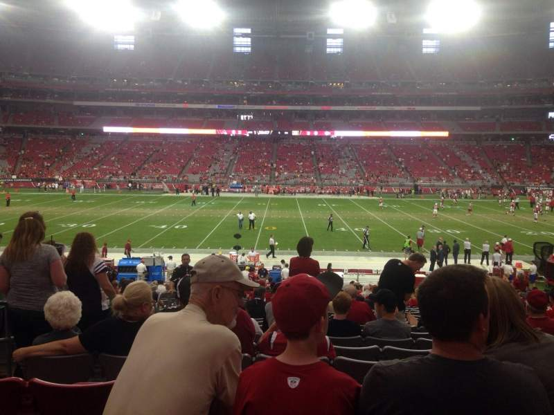 Seating view for University of Phoenix Stadium Section 108 Row 26 Seat 15