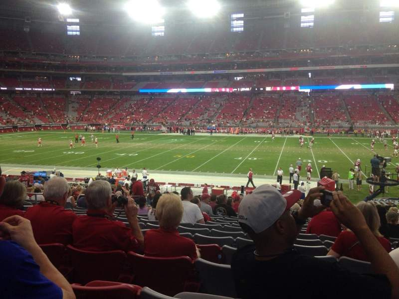 Seating view for University of Phoenix Stadium Section 107 Row 26 Seat 7