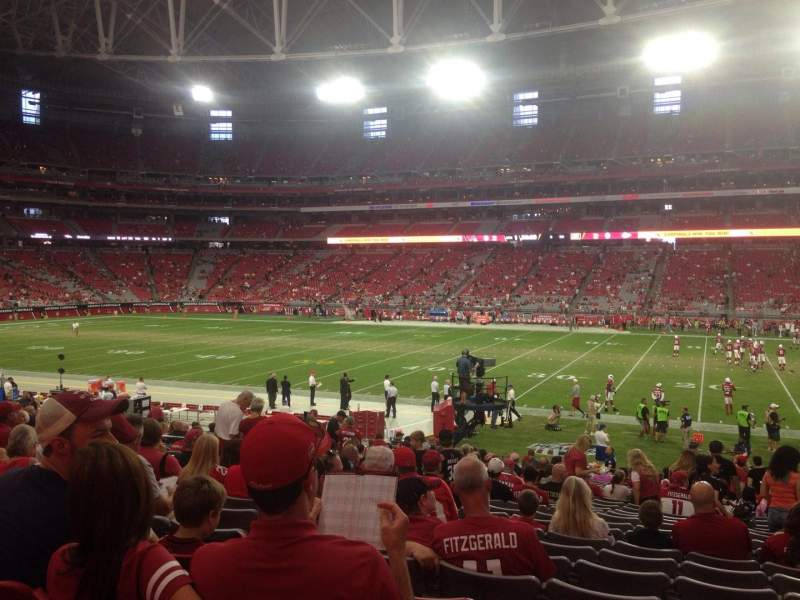 Seating view for University of Phoenix Stadium Section 106 Row 24 Seat 3