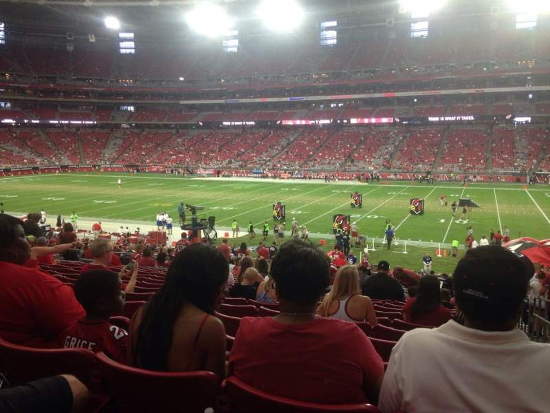 Seating view for University of Phoenix Stadium Section 105 Row 32 Seat 1