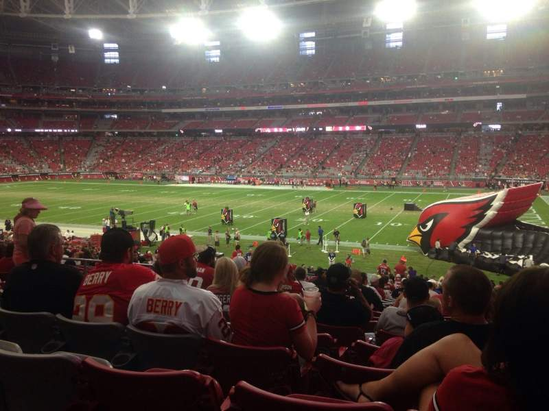 Seating view for University of Phoenix Stadium Section 104 Row 33 Seat 14