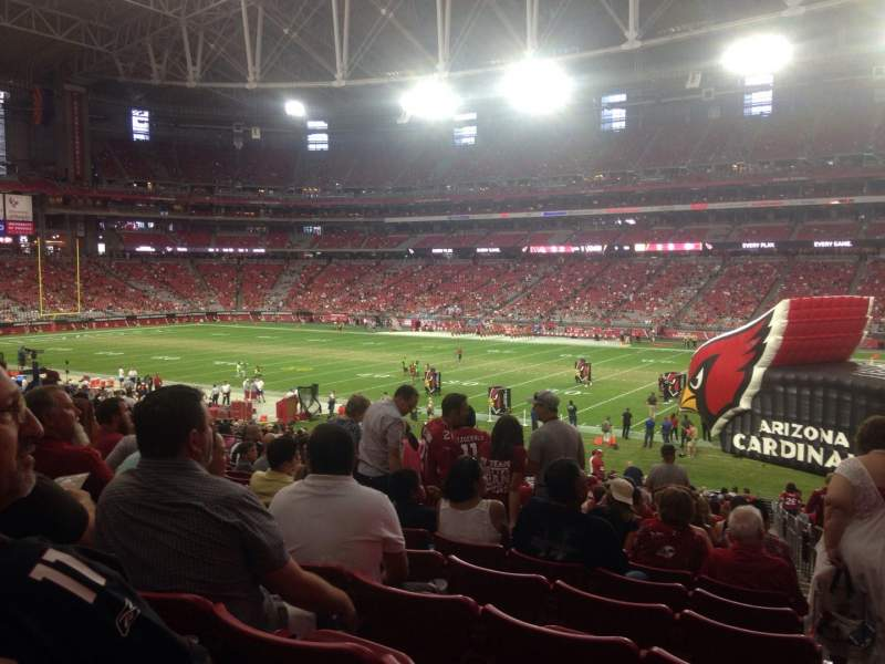 Seating view for University of Phoenix Stadium Section 104 Row 35 Seat 1