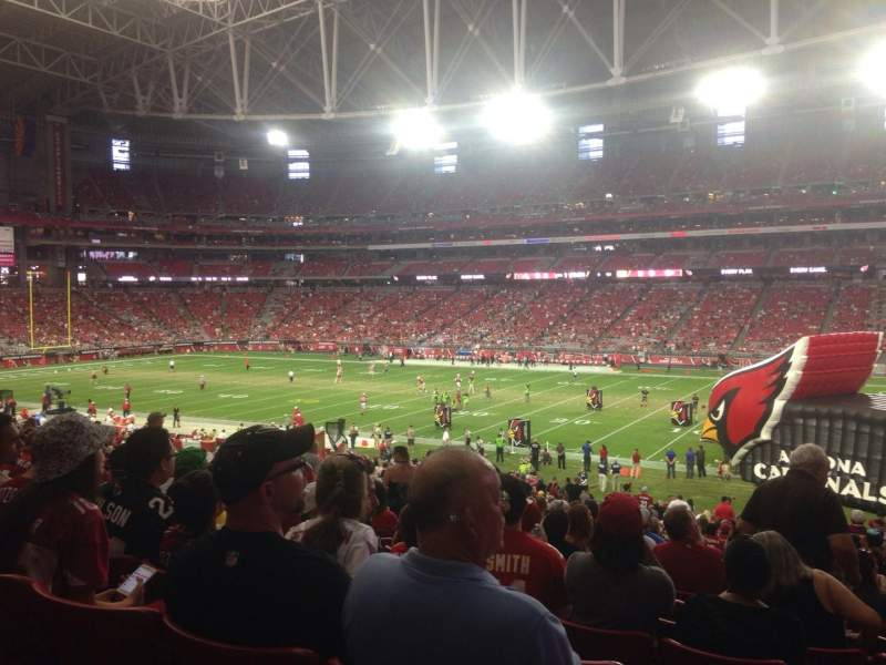 Seating view for University of Phoenix Stadium Section 104 Row 39 Seat 7