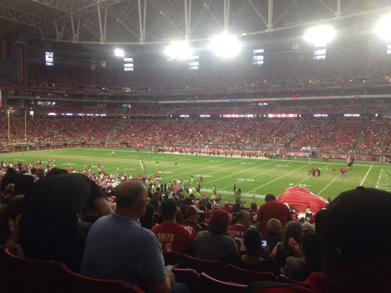Seating view for University of Phoenix Stadium Section 104 Row 39 Seat 6