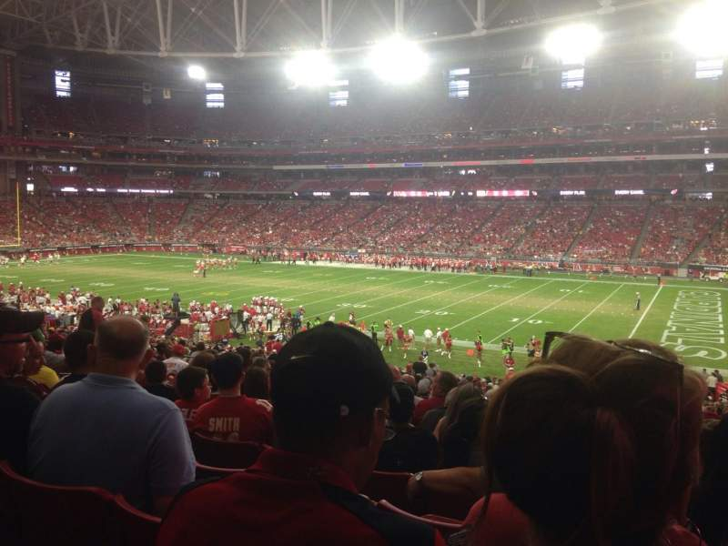Seating view for University of Phoenix Stadium Section 104 Row 39 Seat 5