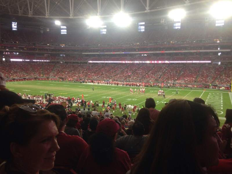 Seating view for University of Phoenix Stadium Section 104 Row 39 Seat 4