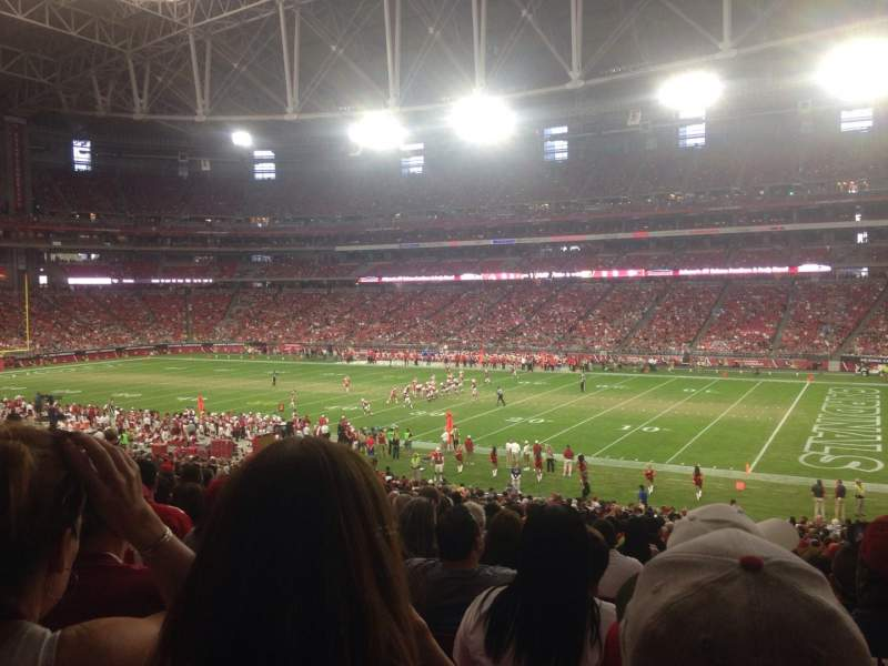 Seating view for University of Phoenix Stadium Section 104 Row 39 Seat 3