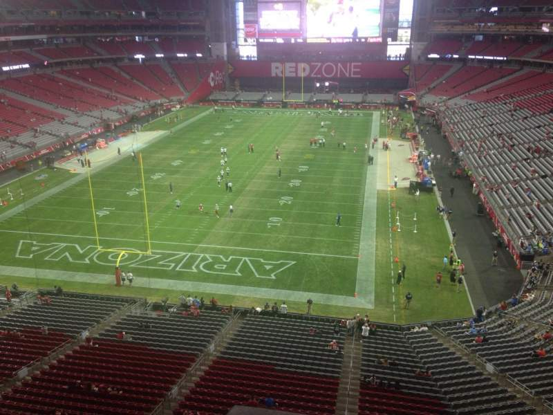 Seating view for University of Phoenix Stadium Section 426 Row A Seat 1