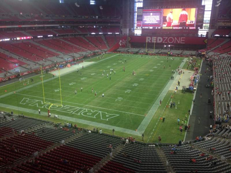 Seating view for University of Phoenix Stadium Section 425 Row A Seat 1