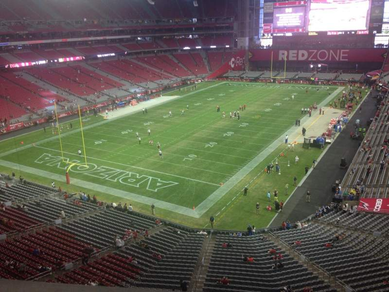 Seating view for University of Phoenix Stadium Section 424 Row A Seat 1