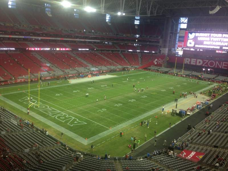 Seating view for University of Phoenix Stadium Section 422 Row A Seat 20