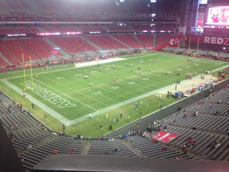 Seating view for University of Phoenix Stadium Section 421 Row A Seat 19