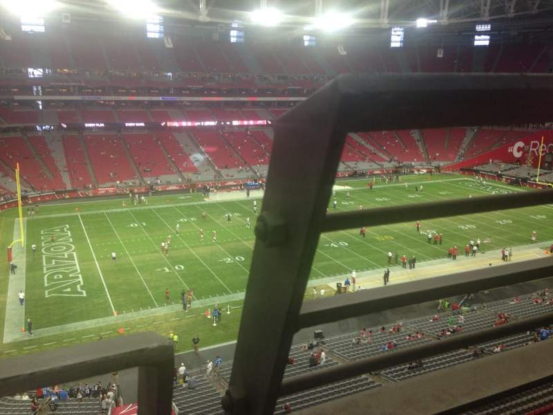 Seating view for University of Phoenix Stadium Section 418 Row A Seat 1