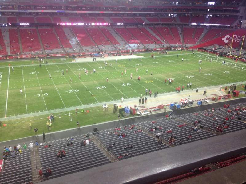 Seating view for University of Phoenix Stadium Section 416 Row A Seat 18