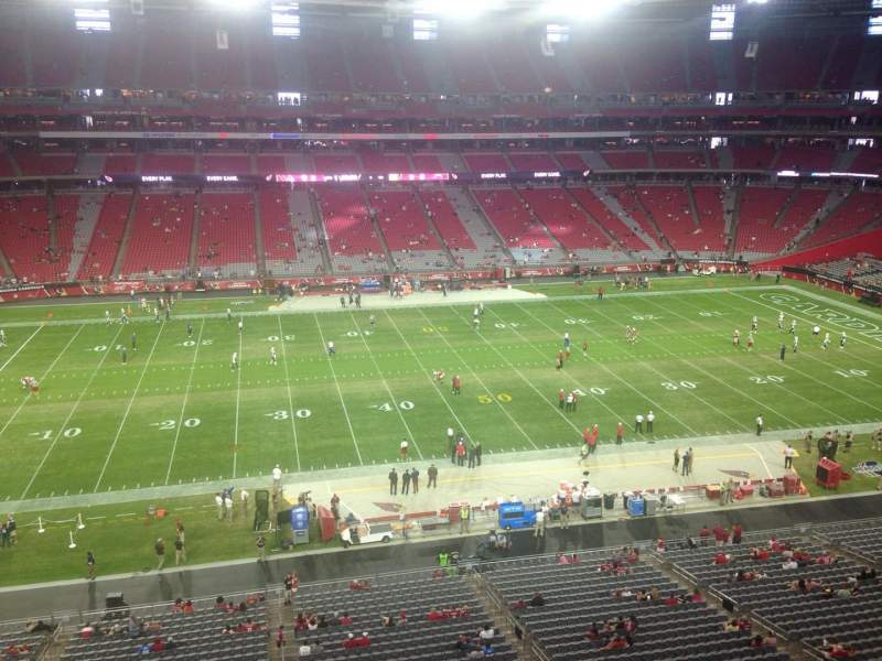 Seating view for University of Phoenix Stadium Section 414 Row A Seat 17