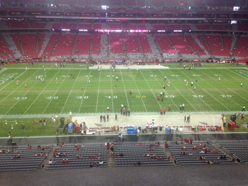 Seating view for University of Phoenix Stadium Section 413 Row A Seat 13