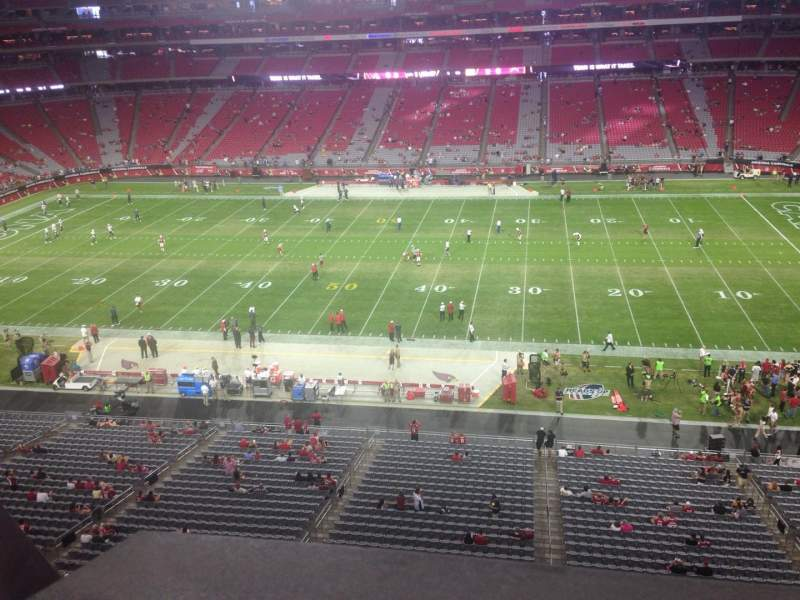 Seating view for University of Phoenix Stadium Section 410 Row A Seat 18