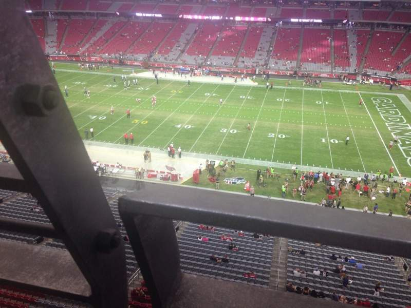 Seating view for University of Phoenix Stadium Section 409 Row A Seat 18