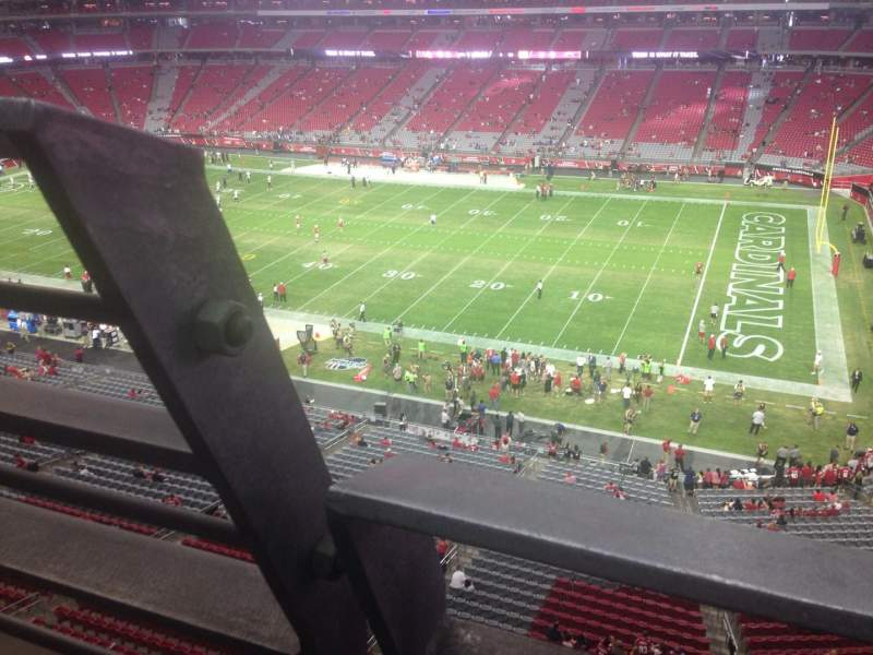 Seating view for University of Phoenix Stadium Section 407 Row A Seat 25