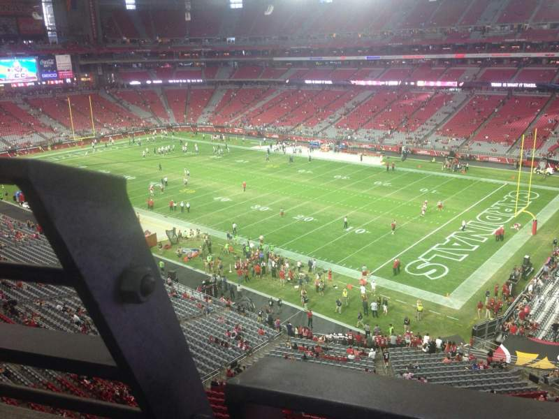 Seating view for University of Phoenix Stadium Section 404 Row A Seat 19