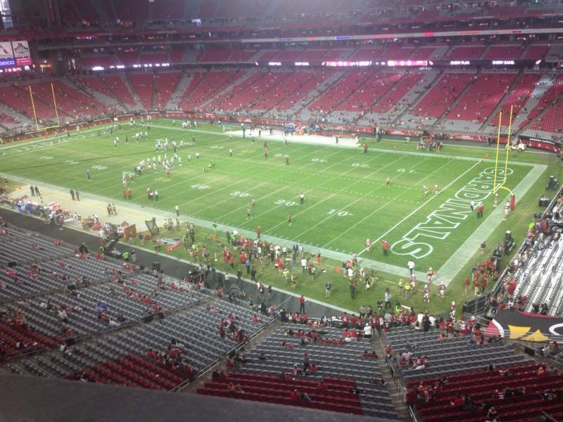 Seating view for University of Phoenix Stadium Section 405 Row A Seat 1