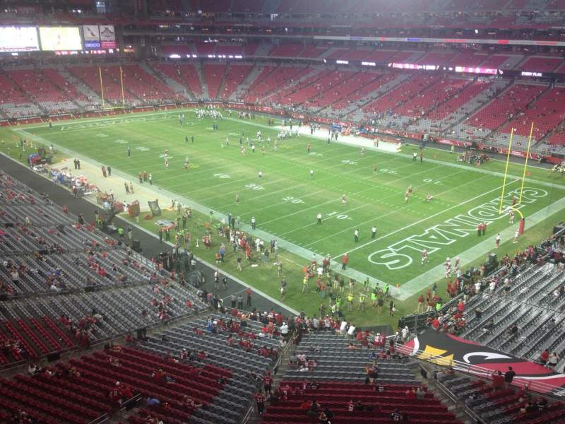 Seating view for University of Phoenix Stadium Section 403 Row A Seat 20