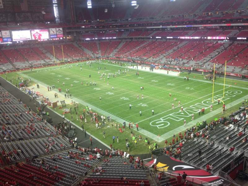 Seating view for University of Phoenix Stadium Section 403 Row A Seat 1