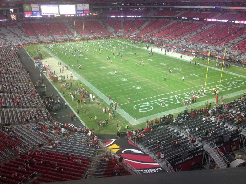Seating view for University of Phoenix Stadium Section 401 Row A Seat 16