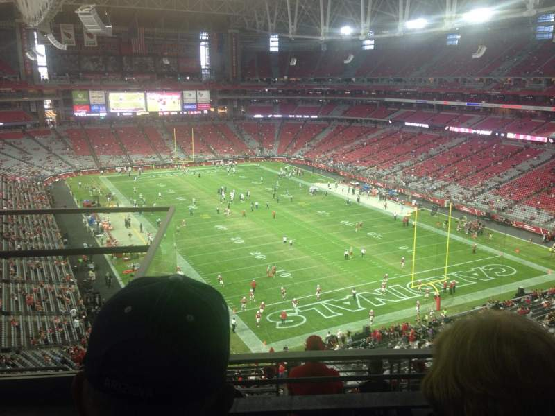 Seating view for University of Phoenix Stadium Section 401 Row 2 Seat 9