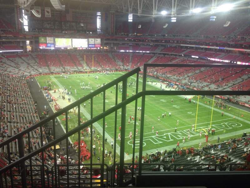 Seating view for State Farm Stadium Section 402 Row 1 Seat 1