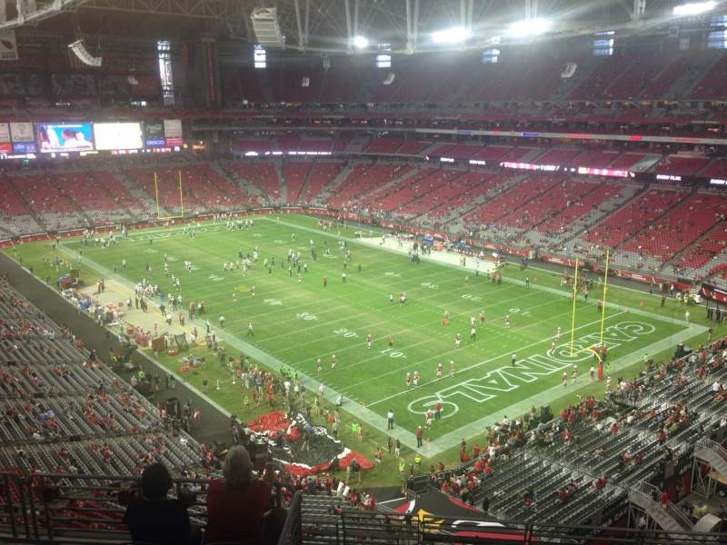 Seating view for University of Phoenix Stadium Section 403 Row 2 Seat 11