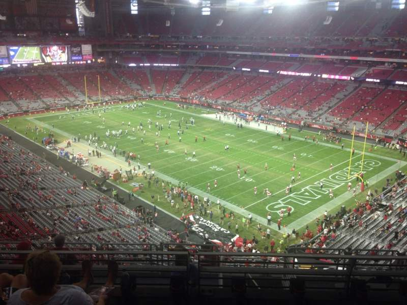 Seating view for University of Phoenix Stadium Section 404 Row 4 Seat 11