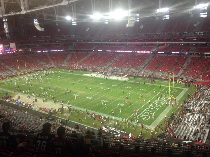 Seating view for University of Phoenix Stadium Section 405 Row 7 Seat 11