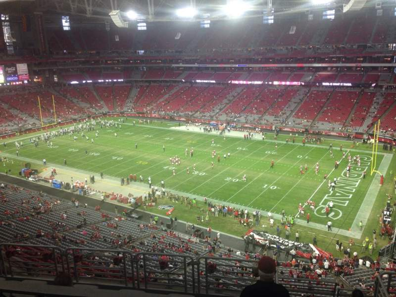 Seating view for University of Phoenix Stadium Section 406 Row 2 Seat 11