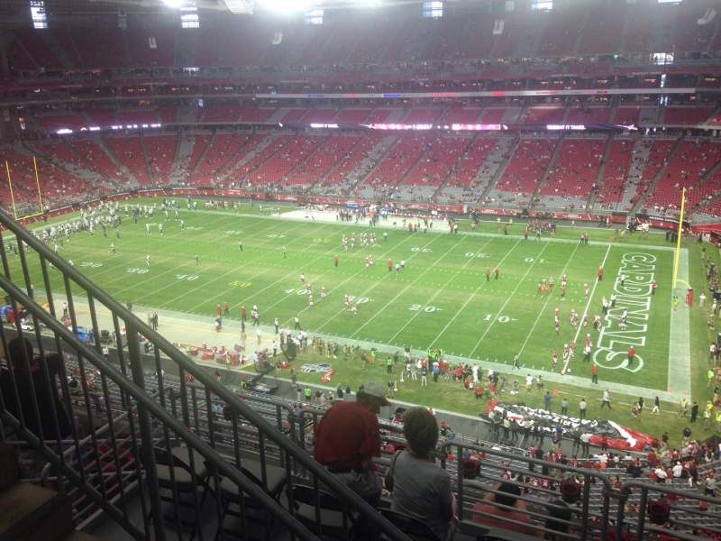 Seating view for University of Phoenix Stadium Section 407 Row 1 Seat 8