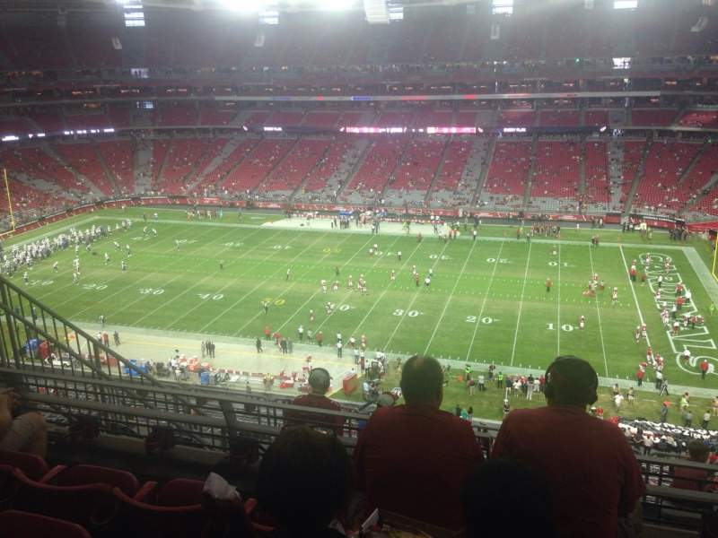 Seating view for University of Phoenix Stadium Section 409 Row 4 Seat 9