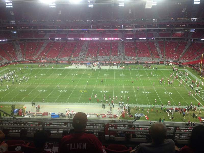 Seating view for University of Phoenix Stadium Section 411 Row 5 Seat 9